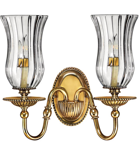 Hinkley 4642BB Cambridge 2 Light 14 inch Burnished Brass Sconce Wall Light photo