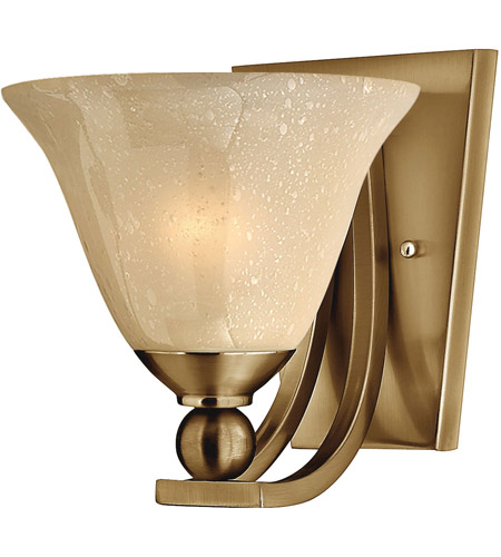 Hinkley 4650BR Bolla 1 Light 8 inch Brushed Bronze Sconce Wall Light in Amber Seedy, Incandescent photo