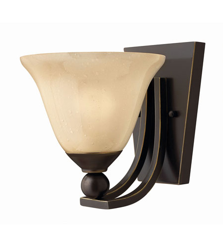 Hinkley 4650OB-GU24 Bolla 1 Light 8 inch Olde Bronze Bath Wall Light in GU24, Amber Seedy photo