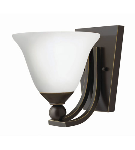 Hinkley 4650OB-OP-GU24 Bolla 1 Light 8 inch Olde Bronze Sconce Wall Light in Etched Opal, GU24 photo