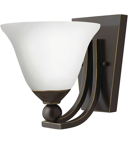 Hinkley 4650OB-OPAL Bolla 1 Light 8 inch Olde Bronze Sconce Wall Light in Etched Opal, Incandescent photo