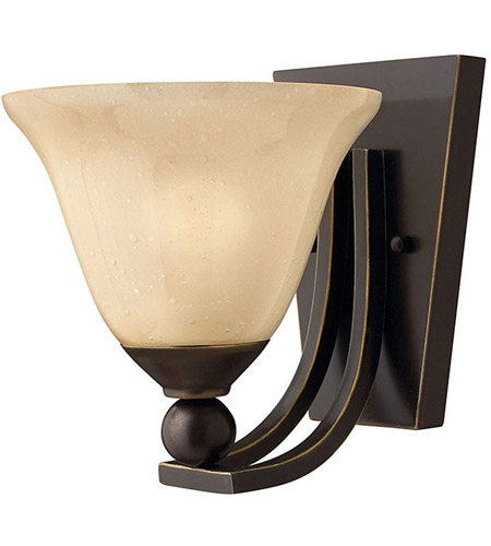 Hinkley 4650OB Bolla 1 Light 8 inch Olde Bronze Sconce Wall Light in Amber Seedy, Incandescent photo