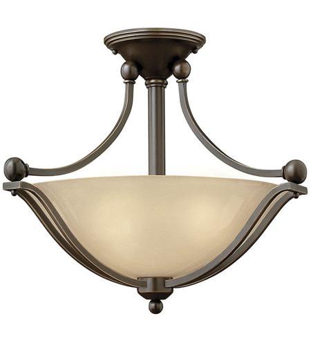 Hinkley Lighting Bolla 2 Light Semi Flush in Olde Bronze 4651OB-LED