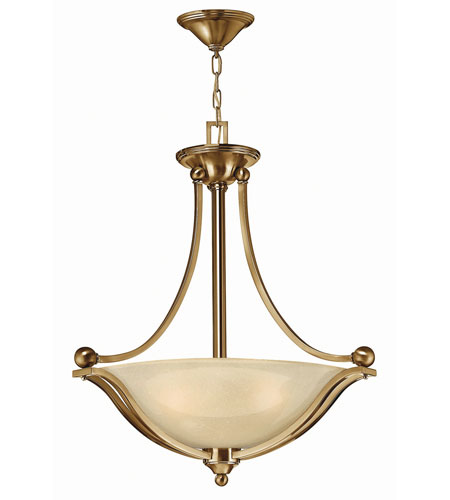 Hinkley 4652br Led Bolla 23 Inch Brushed Bronze Foyer Ceiling Light In Amber Seedy