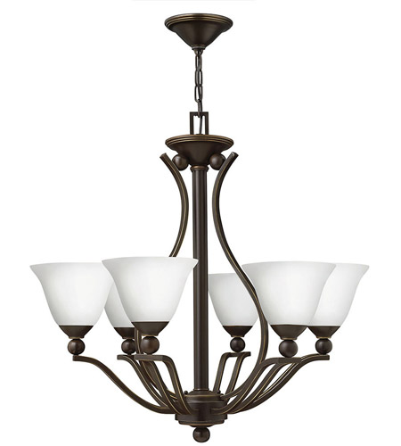 Hinkley 4656OB-OPAL Bolla 6 Light 29 inch Olde Bronze Chandelier Ceiling Light in Etched Opal photo