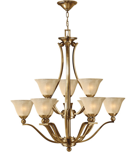 Hinkley 4657BR Bolla 9 Light 35 inch Brushed Bronze Foyer Chandelier Ceiling Light in Light Amber Seedy photo