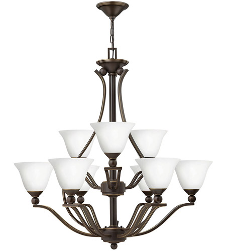 Hinkley Lighting Bolla 9 Light Chandelier in Olde Bronze 4657OB-OPAL photo