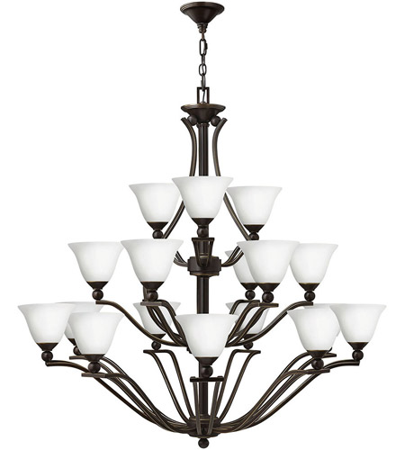 Hinkley 4659OB-OPAL Bolla 18 Light 48 inch Olde Bronze Foyer Chandelier Ceiling Light in Etched Opal photo
