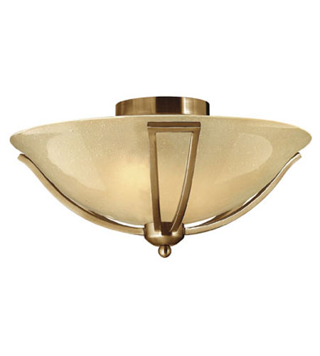 Hinkley Lighting Bolla 2 Light Semi Flush in Brushed Bronze 4660BR