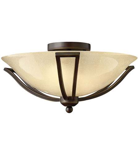 Hinkley 4660OB Bolla 2 Light 17 inch Olde Bronze Bath Flush Mount Ceiling Light in Amber Seedy, Incandescent photo