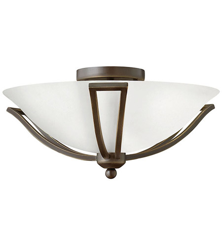 Hinkley 4660OB-OPAL Bolla 2 Light 17 inch Olde Bronze Bath Light Wall Light in Incandescent, Etched Opal photo