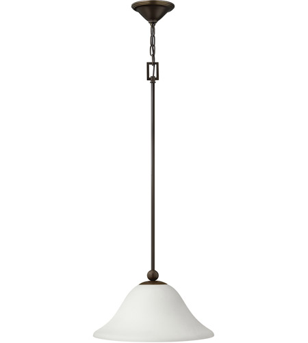 Hinkley 4661OB-OPAL Bolla 1 Light 16 inch Olde Bronze Mini-Pendant Ceiling Light in Etched Opal, Incandescent photo