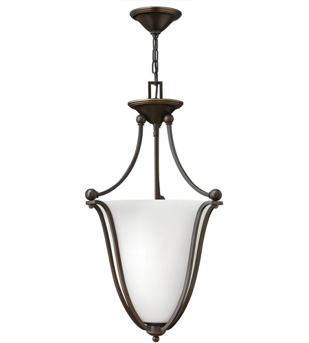 Hinkley 4663OB-OPAL Bolla 3 Light 16 inch Olde Bronze Foyer Ceiling Light in Etched Opal photo
