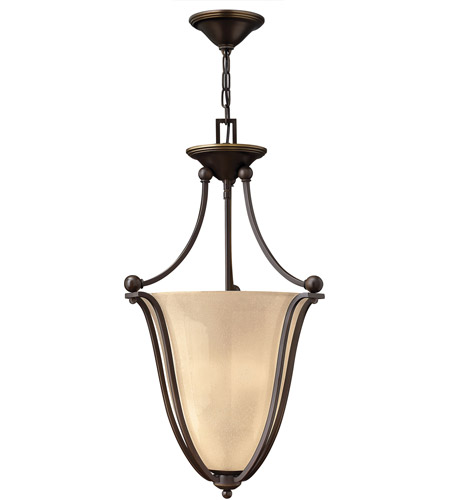 Hinkley 4663OB Bolla 3 Light 16 inch Olde Bronze Inverted Pendant Ceiling Light in Amber Seedy photo