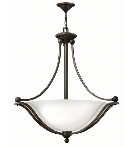 Hinkley 4664OB-OP-LED Bolla 3 Light 31 inch Olde Bronze Foyer Ceiling Light in Etched Opal, LED photo