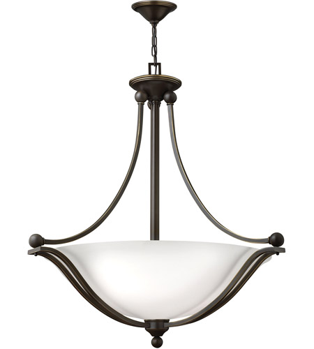 Hinkley 4664OB-OPAL Bolla 4 Light 31 inch Olde Bronze Foyer Ceiling Light in Etched Opal, Incandescent photo