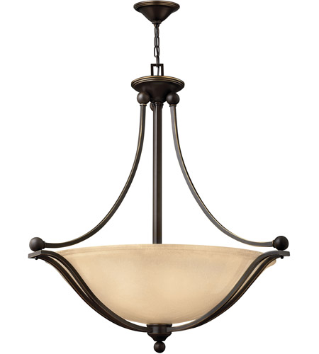 Hinkley 4664OB Bolla 4 Light 31 inch Olde Bronze Hanging Foyer Ceiling Light in Amber Seedy, Incandescent photo