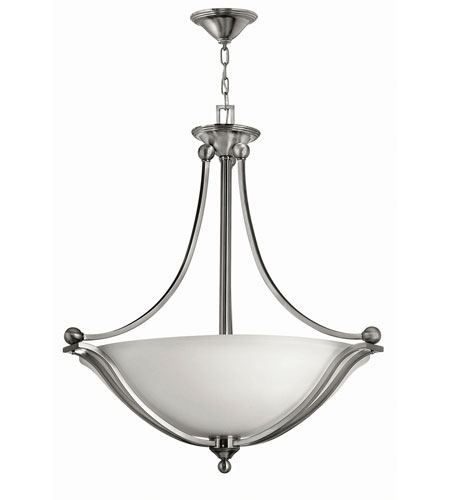 Hinkley 4664BN-LED Bolla LED 31 inch Brushed Nickel Foyer Ceiling Light in Etched Opal photo