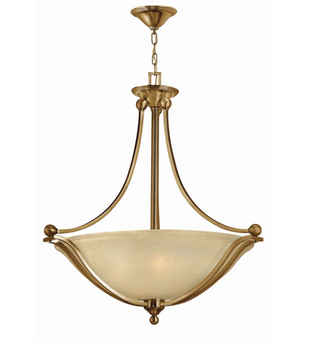 Hinkley 4664BR-LED Bolla LED 31 inch Brushed Bronze Foyer Ceiling Light in Light Amber Seedy photo