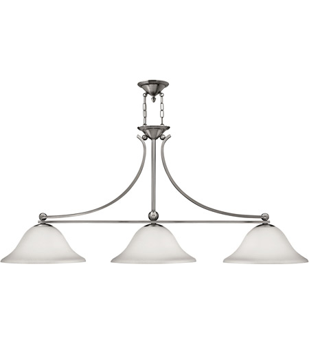 Hinkley Lighting Bolla 3 Light Chandelier in Brushed Nickel 4666BN
