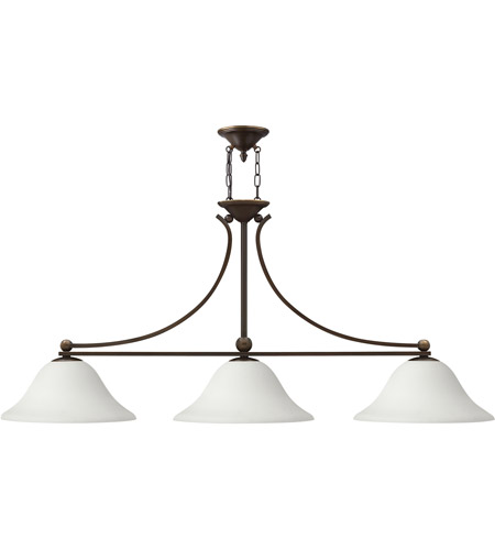 Hinkley 4666OB-OPAL Bolla 3 Light 56 inch Olde Bronze Chandelier Ceiling Light in Etched Opal photo