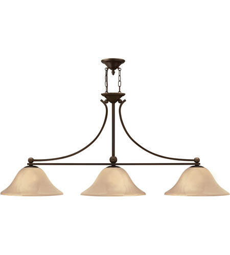 Hinkley 4666OB Bolla 3 Light 56 inch Olde Bronze Chandelier Ceiling Light in Amber Seedy photo