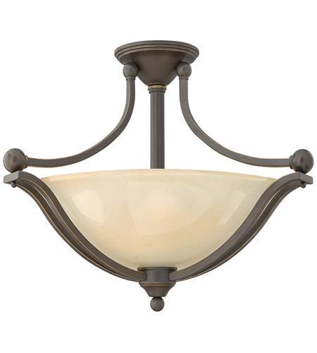 Hinkley Lighting Bolla 3 Light Semi Flush in Olde Bronze 4669OB
