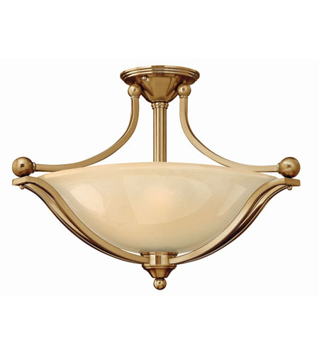 Hinkley Lighting Bolla 3 Light Semi Flush in Brushed Bronze 4669BR-LED