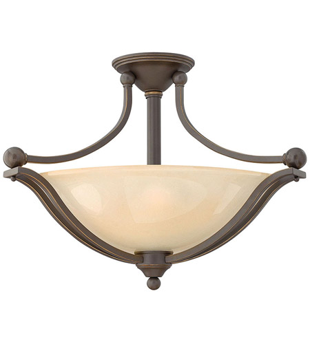 Hinkley 4669OB-LED Bolla LED 23 inch Olde Bronze Semi Flush Ceiling Light in Amber Seedy photo