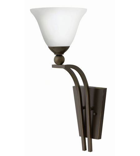 Hinkley Lighting Bolla 1 Light Sconce in Olde Bronze 4670OB-OPAL
