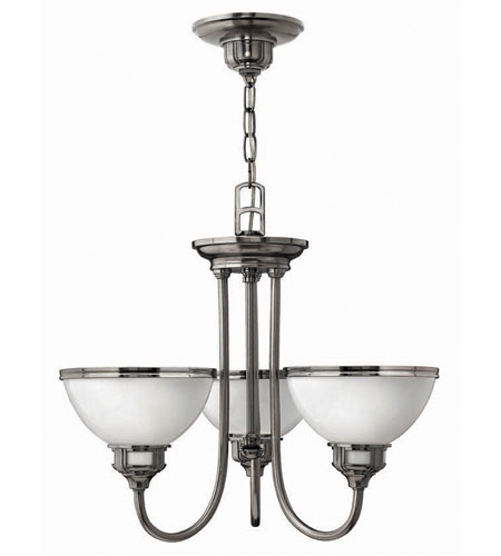 Hinkley Carina 3Lt Chandelier in Polished Antique Nickel 4673PL photo