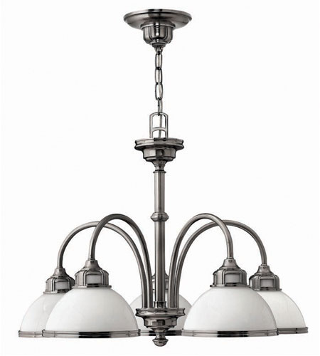 Hinkley Carina 5Lt Chandelier in Polished Antique Nickel 4675PL photo