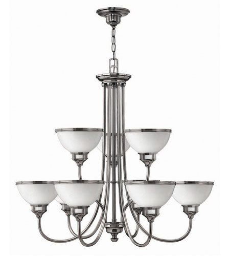 Hinkley Carina 2 Tier 9Lt Chandelier in Polished Antique Nickel 4678PL photo