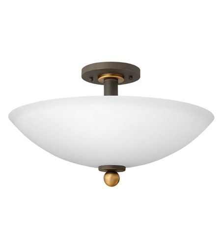 Hinkley Lighting Cooper 3 Light Semi Flush in Oil Rubbed Bronze 4681OZ
