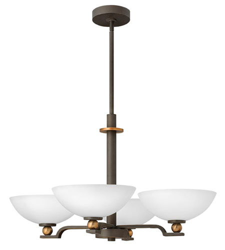 Hinkley Lighting Cooper 4 Light Chandelier in Oil Rubbed Bronze 4684OZ