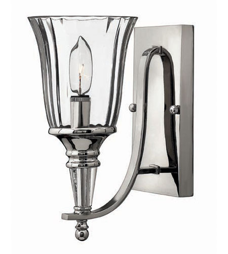 Hinkley Lighting Chandon 1 Light Sconce in Sterling 4690SR