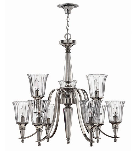 Hinkley Lighting Chandon 9 Light Chandelier in Sterling 4698SR