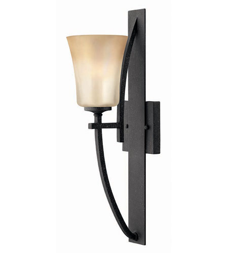 Hinkley Lighting Valley 1 Light Sconce in Vintage Black 4700VK