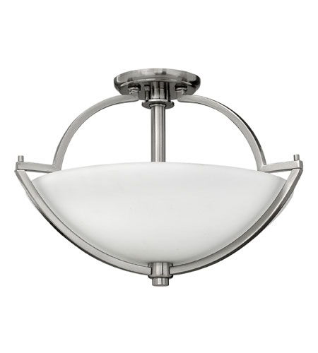 Hinkley Lighting Valley 2 Light Semi Flush in Brushed Nickel 4701BN
