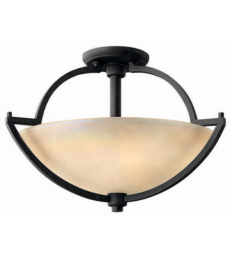 Hinkley Lighting Valley 2 Light Semi Flush in Vintage Black 4701VK photo