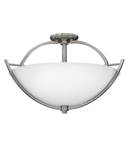 Hinkley Lighting Valley 3 Light Semi Flush in Brushed Nickel 4702BN