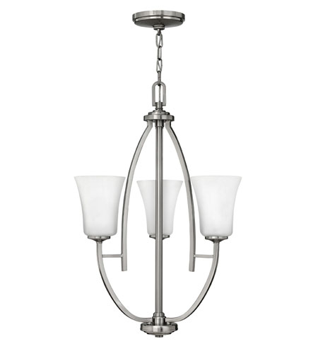 Hinkley Lighting Valley 3 Light Chandelier in Brushed Nickel 4703BN