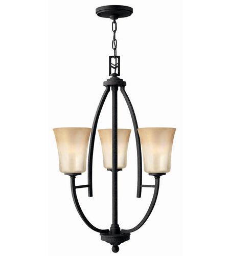 Hinkley Lighting Valley 3 Light Chandelier in Vintage Black 4703VK