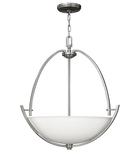 Hinkley 4704BN Valley 3 Light 24 inch Brushed Nickel Hanging Foyer Ceiling Light photo