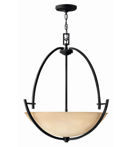 Hinkley Lighting Valley 3 Light Hanging Foyer in Vintage Black 4704VK