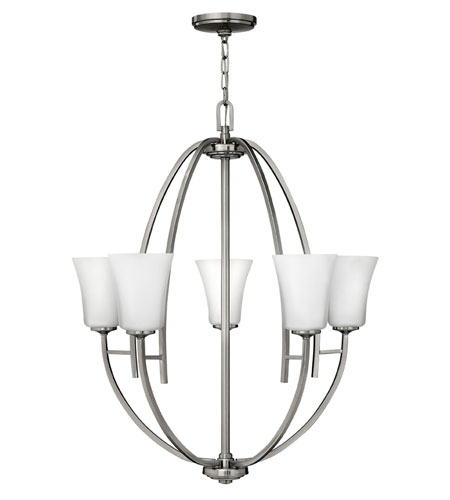 Hinkley Lighting Valley 5 Light Chandelier in Brushed Nickel 4705BN photo