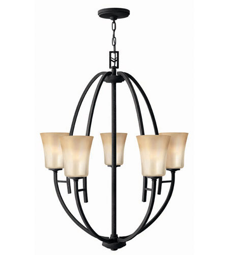 Hinkley Lighting Valley 5 Light Chandelier in Vintage Black 4705VK