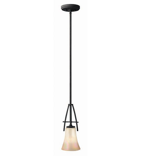 Hinkley Lighting Valley 1 Light Mini-Pendant in Vintage Black 4707VK