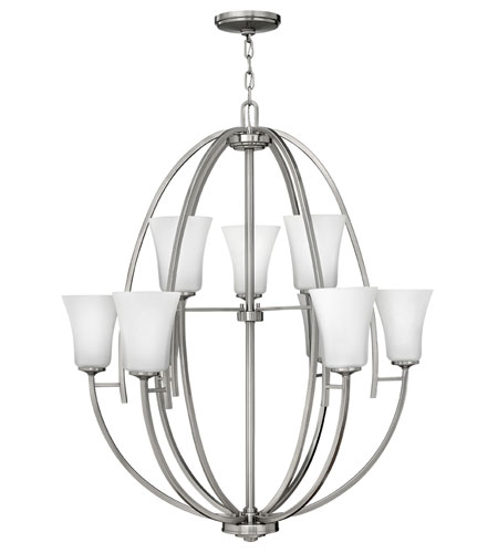 Hinkley Lighting Valley 9 Light Chandelier in Brushed Nickel 4708BN