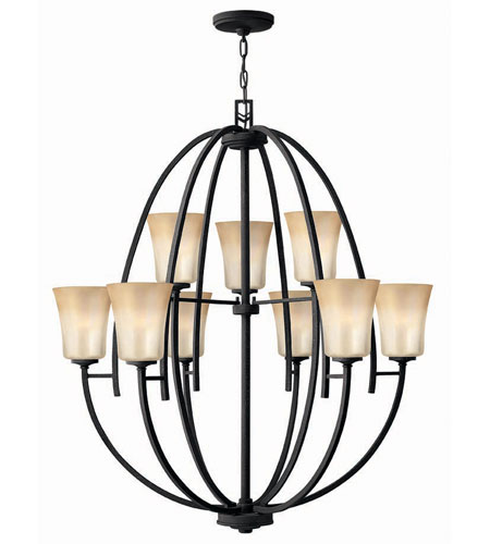 Hinkley Lighting Valley 9 Light Chandelier in Vintage Black 4708VK